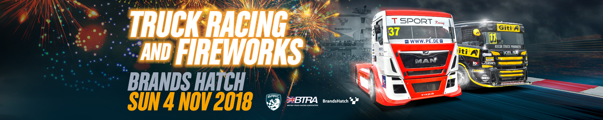 British Truck Racing Championship & Fireworks