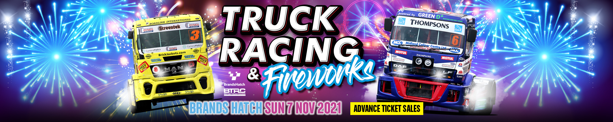 British Truck Racing & Fireworks