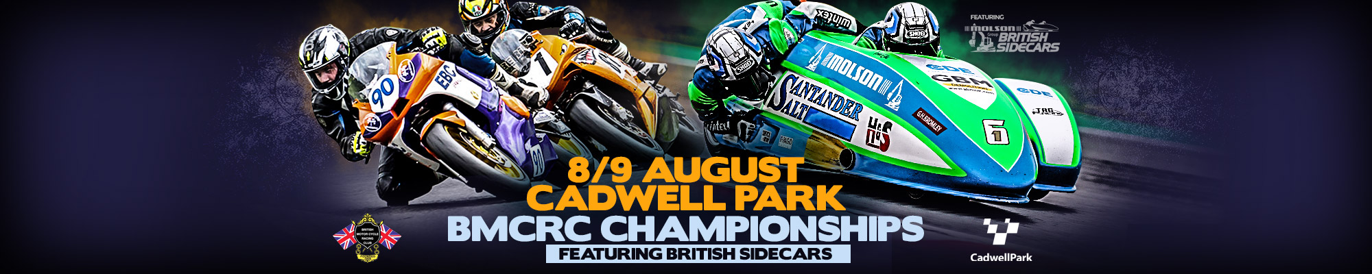 BMCRC Championships featuring British Sidecars