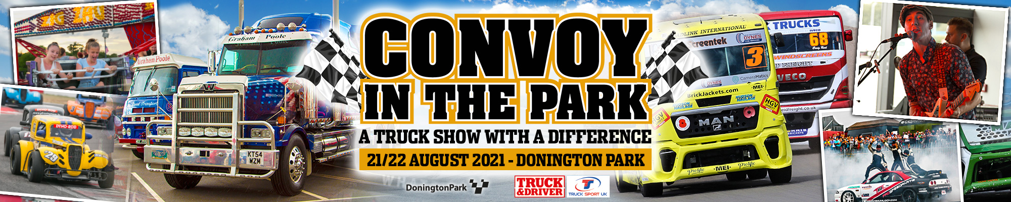 Convoy in the Park featuring British Truck Racing