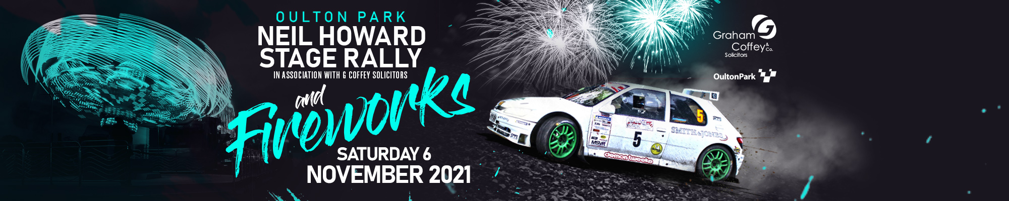 Oulton Park Neil Howard Stage Rally and Fireworks