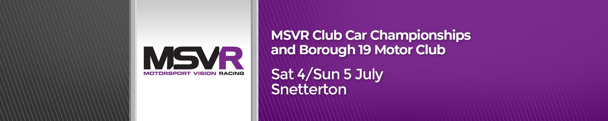 MSVR Championships (200) / Borough 19 Sprint (100)